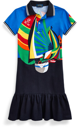 Ralph Lauren Sailboat Mesh Polo Dress