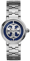 Tory Burch Reva Watch, Stainless Steel/Navy, 28 Mm
