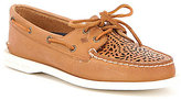 Sperry Sky Sail Canvas Vulcanized Leather Boat Shoes