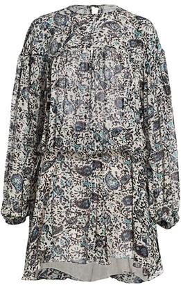 Etoile Isabel Marant Nimazu Paisley Puff-Sleeve Dress