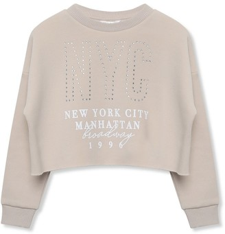 M&Co NYC diamante slogan sweatshirt (3-12yrs)