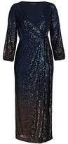 Thumbnail for your product : Marina Rinaldi, Plus Size Ombre Sequin Faux-Wrap Dress