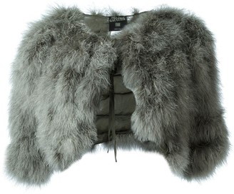 Jean Paul Gaultier Pre-Owned marabou shrug jacket