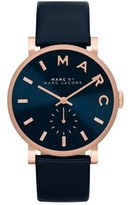 Marc Jacobs 'Baker' Leather Strap Watch, 37mm