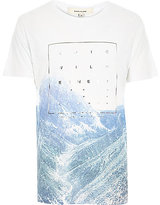 River Island MensWhite epic wilderness foil print t-shirt