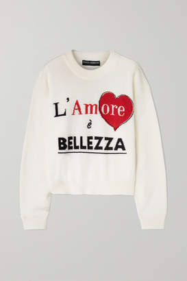 Dolce & Gabbana Intarsia Cashmere Sweater - Ivory