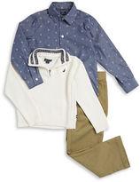 Nautica Boys 2-7 Half-Zip Sweater, Sportshirt and Chinos Set