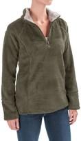 dylan Double Plush Sweatshirt - Zip Neck, Contrast Trim (For Women)