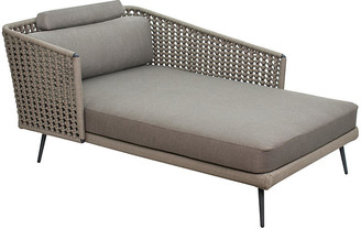 One Kings Lane Antilles Left Chaise - Gray/Taupe - frame, gray/taupe; upholstery, gray