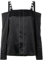 3.1 Phillip Lim embellished cold-shoulder blouse - women - Silk/Cotton/Viscose - 6