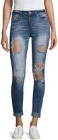 INDIGO REIN Indigo Rein Destructed Skinny Fit Jeans-Juniors