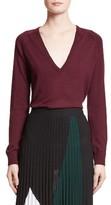 Proenza Schouler Women's Plunging V-Neck Merino Wool Sweater