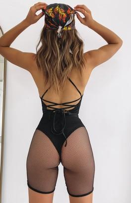 Bb Exclusive Xanny Lace Back Festival Bodysuit Black