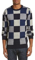 Scotch & Soda Intarsia Wool-blend Crewneck Sweater.