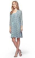 Alex Evenings Sequin Lace Shift Jacket Dress