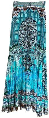 Camilla Turquoise Silk Skirt for Women