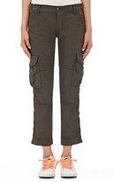 NSF Women's Basquit Cargo Pants-DARK GREY, DARK GREEN