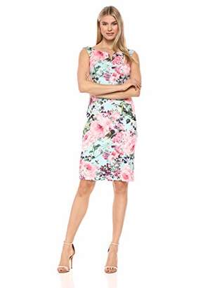 SL Fashions Women's Sleeveless Neck Scuba Midi