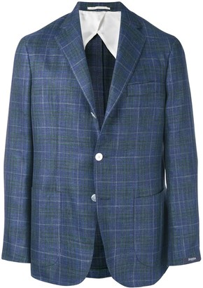 Barba Jimmy check blazer