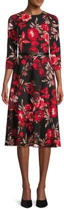 Calvin Klein Floral Belted Dress