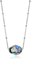 Antica Murrina Veneziana Smeralda Glass Beads Sterling Silver Necklace