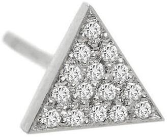 Jennifer Meyer Mini Diamond Triangle Stud White Gold Single Earring