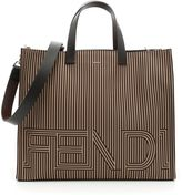 Fendi Faces Bla Bla Bla Roman Leather Tote