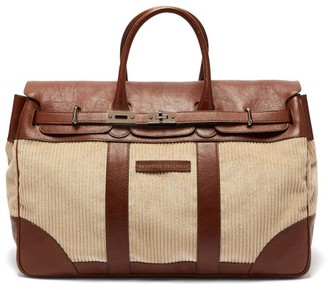 Brunello Cucinelli Leather-trimmed Corduroy Holdall - Mens - Brown