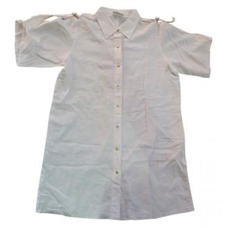 La Perla White Linen Top for Women