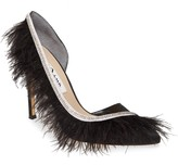 Nina Delcie Crystal Embellished Feather Pointed Toe Pump