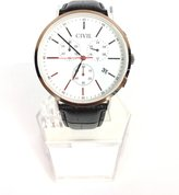 Civil Watches - Frontier Edition - White Face 42mm - Band 22mm - Men's
