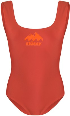 Stussy Logo Print Swimsuit
