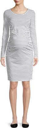 BELLE + SKY Belle & Sky Maternity Long Sleeve Dress