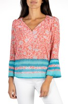 KUT from the Kloth Meredith Floral Border Print Blouse