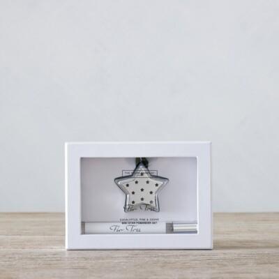 The White Company Fir Tree Mini Star Pomander Set with Spray, No Colour, One Size