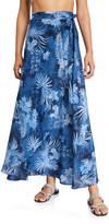 Marie France Van Damme Printed Silk Wrap Coverup Skirt