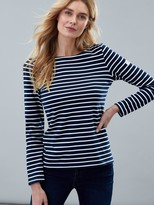 Joules Striped Harbour Top - Cream Navy