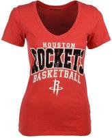 5th & Ocean Women's Houston Rockets Foil V-Neck T-Shirt