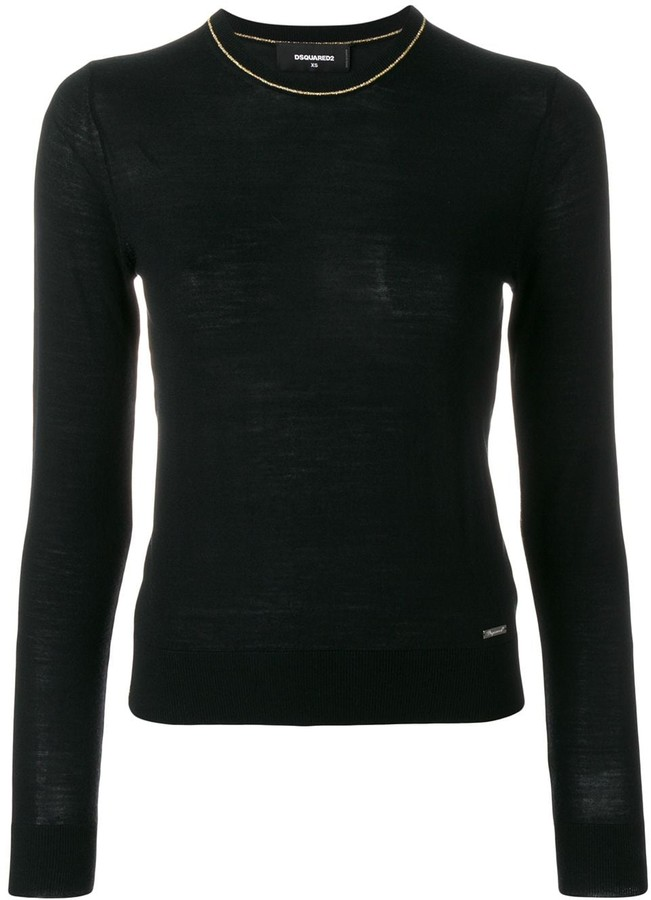 DSQUARED2 contrast trim knitted jumper