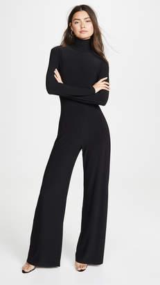 Norma Kamali Long Sleeve Turtleneck Jumpsuit