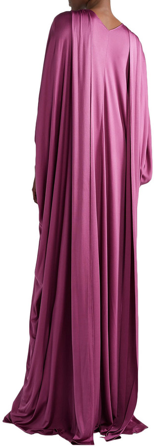 Thumbnail for your product : Reem Acra Draped Silk-jersey Gown