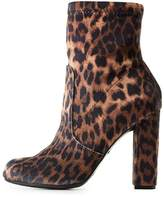 Charlotte Russe Bamboo Leopard Sock Booties