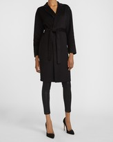 Thumbnail for your product : Express Belted Wrap Front Wool Coat