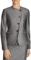 Max Mara Erba Asymmetric Button-Front Jacket