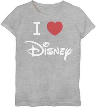 Disney Girls 7-16 I Love Heart Logo Graphic Tee