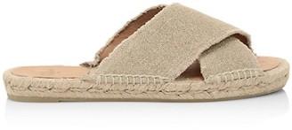 Castaner Palmera Flat Linen Espadrille Sandals