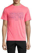 New Balance Heather Graphic Short Sleeve Tee
