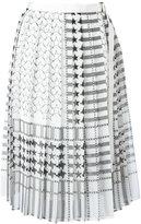 Sacai stars and stripes midi kilt skirt - women - Polyester/Cupro - 3