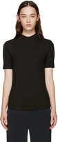 Nomia Black Ribbed Jersey T-Shirt