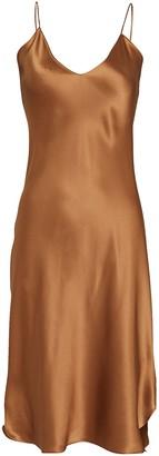 Nili Lotan Knee-Length Silk Slip Dress